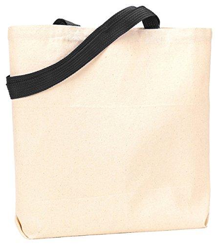 Liberty Bags 9868 10oz Canvas Jennifer Tote - Natural/Black - - Canvas A1 Blank