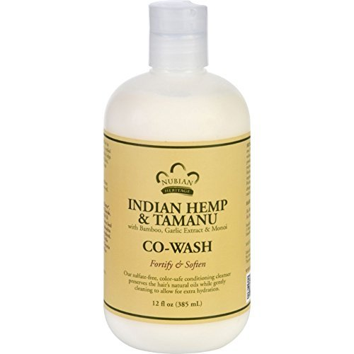 Nubian Heritage Conditioner with Bamboo, Garlic Extract and Monoi - Co-Wash - Indian Hemp and Tamanu - 12 oz by Nubian Heritage (Nubian Co Wash compare prices)
