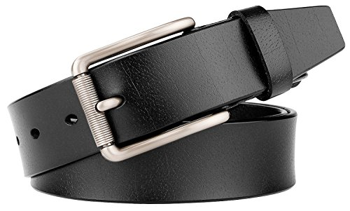 Designer Style Belt Buckle (SUODEY Men's Genuine Leather Designer Belt with Pin Buckle,Casual Jean Style)