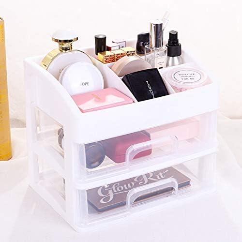 コスメボックス メイクボックス 化粧品収納ケース 透明化粧品ケース 超大容量 机上収納ボックス テーブル整理 かわいい 3レイヤ27.3*20*23cm 27.3*20*31cm ピンク ブルー ベージュ