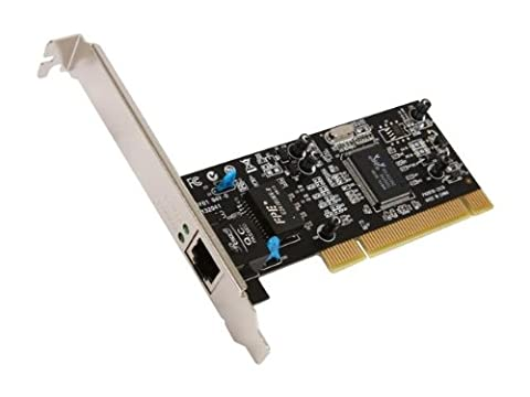 Rosewill 10/100/1000Mbps Gigabit PCI RJ45 Ethernet Network Adapter , Win10 Supported , Low-profile Bracket Included (Gigabit Pci Network Adapter)