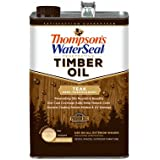 Thompson's Waterseal 048831-16 Semi-transparent Timber Oil, Teak, 1 Gallon