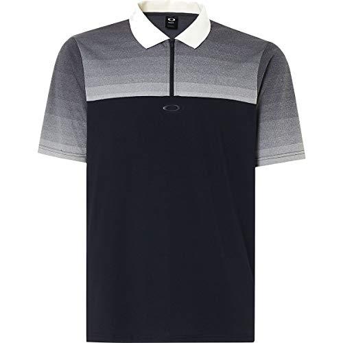 Oakley Men's Polo Shirt Ss Sublimated Jacquard, Blackout, M