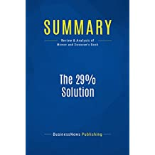 Summary: The 29% Solution: Review and Analysis of Misner and Donovan's Book
