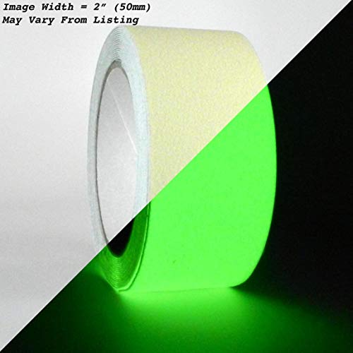 Footed Water Green - WOD NST-20GL Anti Slip Glow in the Dark Tape Luminous Safety Track 60 Grit Non Skid Weather Proof Indoor & Outdoor Traction Tape No Slip (Available in Multiple Sizes): 2 in. x 60 ft.
