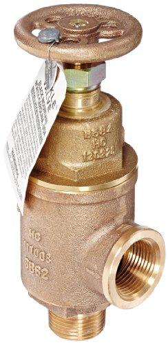 Kunkle 0019-E10-MG0050 Bronze Liquid Relief Valve, 50 Preset Pressure, 1