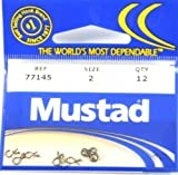 Mustad Classic Barbed Fly Line Pin with Slice in Shank (Pack of 12), Bronze, 1