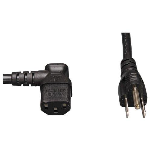 Tripp Lite Standard Computer Power Cord 10A,18AWG (NEMA 5-15P to Left Angle IEC-320-C13) 6-ft.(P006-006-13LA)
