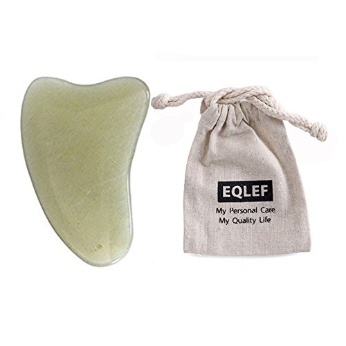 EQLEF Jade Gua Sha Scraping Massage Tool Hand Made Jade Guasha Board ,...
