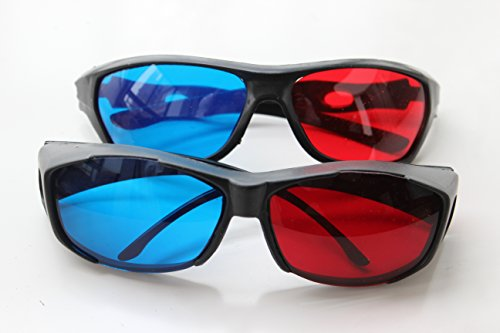 2Pcs With Different Style Red-blue / Cyan Anaglyph Simple Style 3d Glasses 3d Movie Upgrade Style