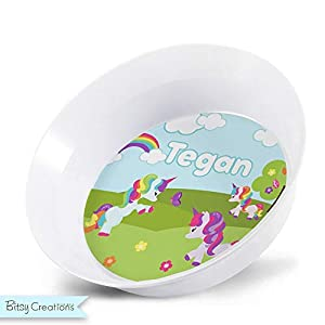 Rainbow Unicorn Plate – Personalized Plate for Kids