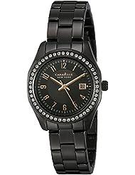 Caravelle New York Womens 45M110 Swarovski Crystal  Stainless Steel  Watch