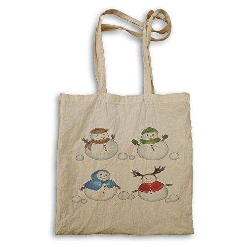 snowmen watercolor Tote bag u430r