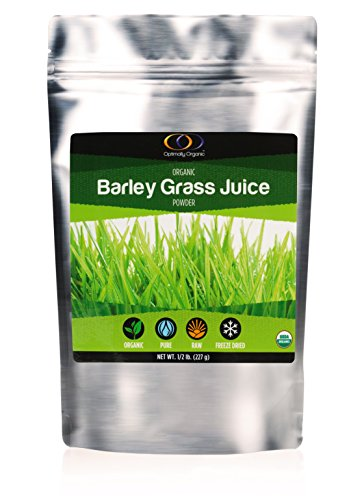 (Organic Barley Grass Juice Powder - Pure Freeze Dried - Packed with Vitamins, Minerals, Chlorophyll and Antioxidants, 1/2 Pound)
