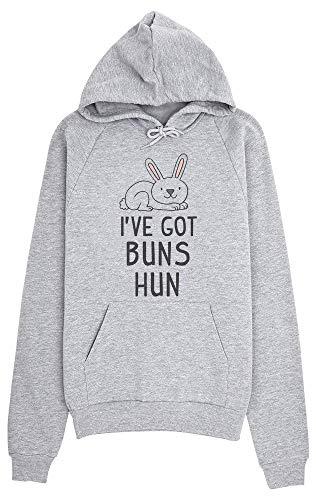 con Cappuccio Donna Got Little Bunny idcommerce Felpa Buns da Grigio Hun 6Y0wq