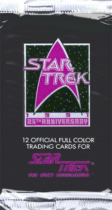 Star Trek: The Next Generation - Series II 25th Anniversary Trading Cards Pack in 1991 (12 cards) (Star Trek The Next Generation Trading Cards 1991)