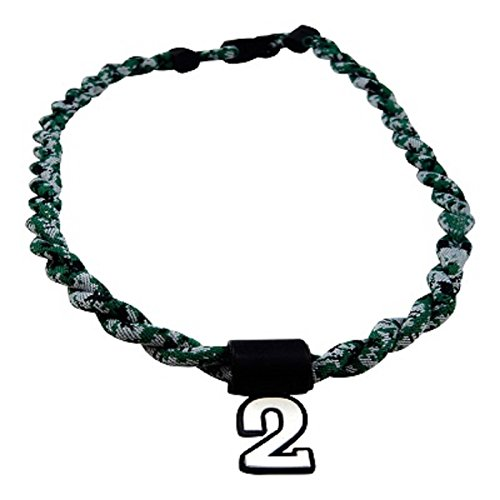 Pick Your Number - Twisted Titanium Sports Tornado Necklace (Green Digi -