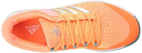 adidas Frauen Adizero Ubersonic 2w Tennisschuhe Glow Orange / Metallic Silber / Samba Blau