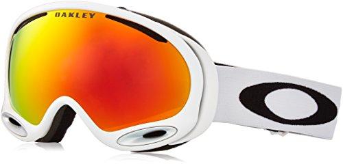Oakley A-Frame 2.0 Polished Ski Goggles, White/Fire Irid (2014 Oakley Goggles)