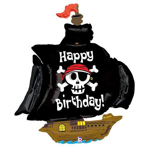 (Betallic Foil Balloon 85484P Pirate Ship Birthday 46