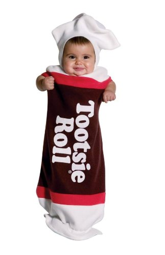 Amazon Tootsie Roll Costume (Rasta Imposta Tootsie Roll Bunting, Brown, 3-9)
