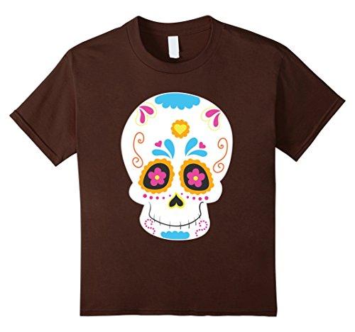 Catrina Costume For Kids (Kids Sugar Skull costume Mexico Dia de los Muertos Catrina 10 Brown)
