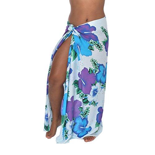 casualmovements Hawaiian Hibiscus Bouquet Sarong Pareo BeachWrap Swimsuit Coverup