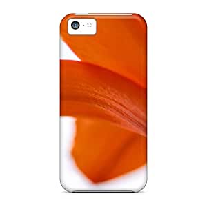 Diy iPhone 6 plus Durable Case For The iPhone 6 plus- Eco-friendly Retail Packaging(nature Flowers Lilies White Background Orange Flowers)
