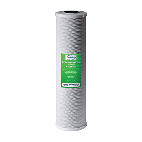 iSpring FC25B NSF Certified High Capacity Big Blue Whole House Water Filter CTO Carbon Block, 4.5