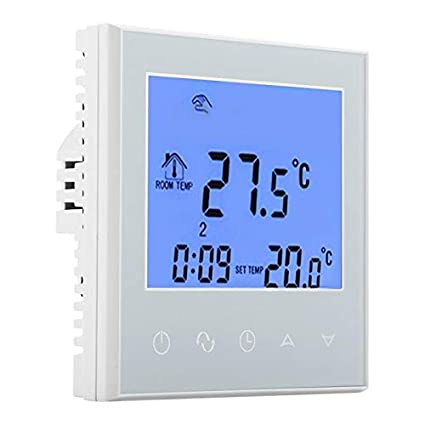 Temperature Instruments - Hy03ww 2 Wifi Thermostat Digital Lcd Display Heating Programmable Temperature Controller Sensor -