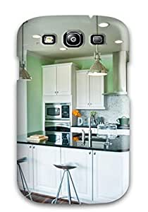 Fashion SgrUdLf9872HeVLw Case Cover For Galaxy S3(pale Green Transitional Kitchen)