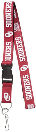 Pro Specialties Group NCAA Oklahoma Sooners Two-Tone Lanyard, Red/Black, One Size