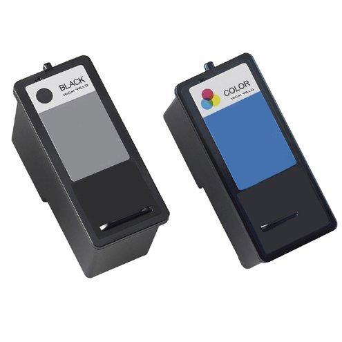 2 Pack (1 Black + 1 Color) Remanufactured DELL (Series 9) MK992 Black and MK993 Color Hi-Yield Inkjet Cartridges for DELL 926, V305, V305W Printers by Nine Star