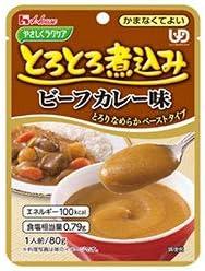 ハウス食品 やさしくラクケア とろとろ煮込みのビーフカレー 80g×40個入×(2ケース)