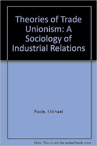 THEORIES OF TRADE UNIONISM EPUB