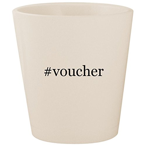#voucher - White Hashtag Ceramic 1.5oz Shot Glass