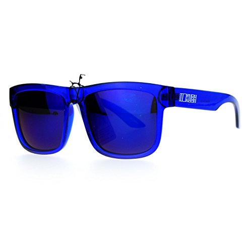 Kush Mens Neon Pop Horn Rim Sport horned Sunglasses Blue (Blue Sun Glasses)