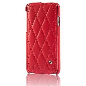 Paris Issentiel - Funda de piel con tapa Original iPhone 6 Plus 5,5 - rojo Cosy colección