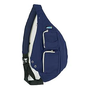 Meru Sling Backpack Bag - Small Single Strap Crossbody Pack for Women and Men (Dark Blue)