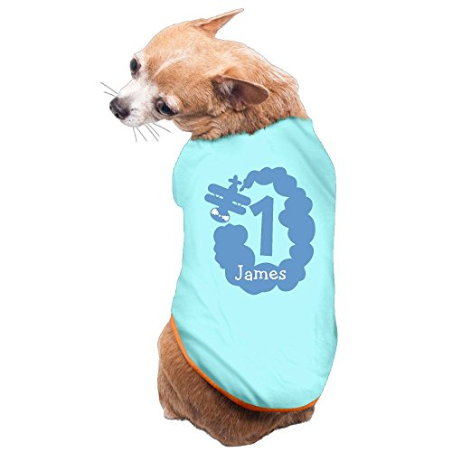 1st Birthday Bo 2017 New Fashion Summer Cute Dog Pet Vest Puppy Printed Cotton T Shirt M SkyBlue