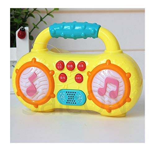 SaleOn™ Mini Multifunction Radio Kids Musical Instruments Story Toys for Kids Children Led Lighting up Educational Developing Flashing Toys (Random Colors) - 1211