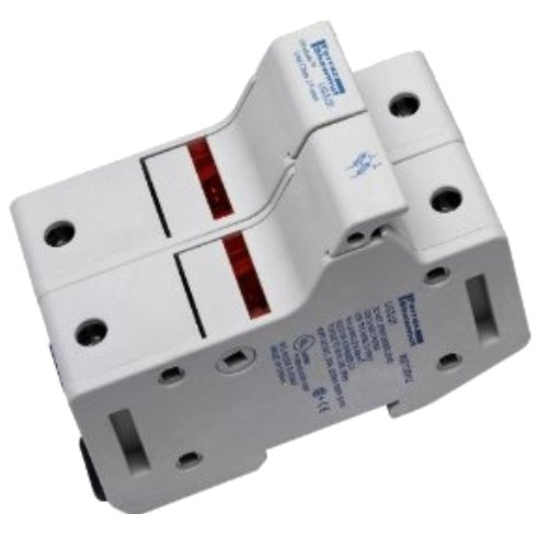 Mersen US3J1I Amp-Trap 2000 SmartSpot Class J Recommended Fuse Block with Box Connector, 0-30 Ampere, 1 Pole