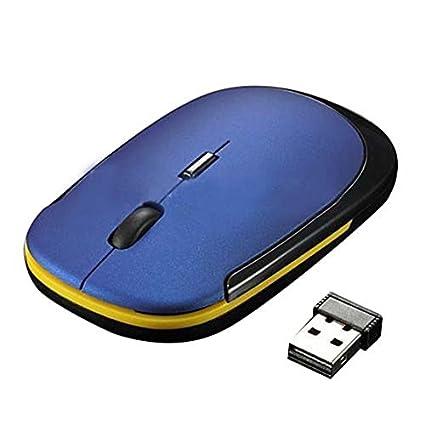SODIAL(R) Ultra delgado Mini USB Inalambrico Raton de rueda optico para todos los