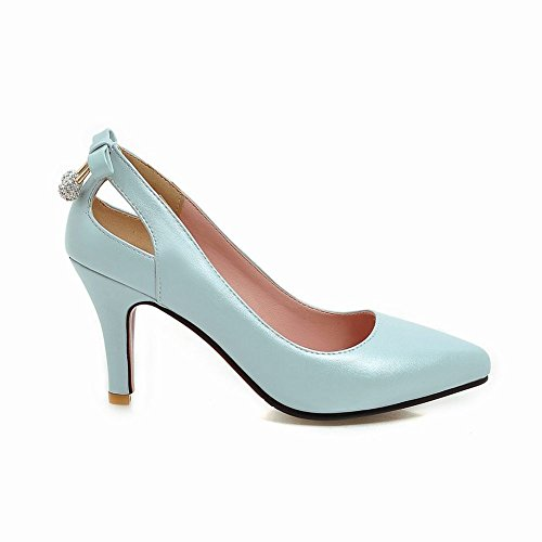 Latasa Womens Pointed Toe High Heels Pumps Shoes Blue 7AJTnCuhy