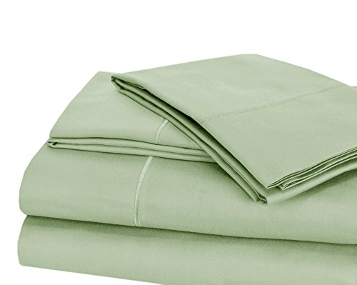 CHATEAU HOME COLLECTION Luxury 100% Pima Cotton 500 Thread Count Ultra Soft Solid Sheet Set, Lowest Prices - Mega Sale (King, Sterling Blue) (Bed Pima Cotton Sheets)