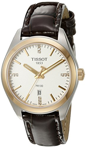 Tissot Women's T1012102603600 PR 100 Analog Display Swiss Quartz Brown Watch