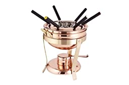Décor Copper & Brass Fondue Set, 2.75 qt.