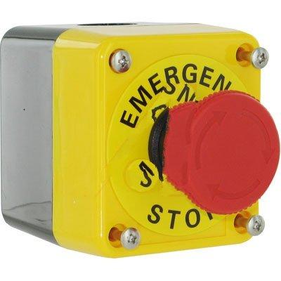 Sti (Scientific Technologies, Inc.) A22E-M-11B , SWITCH, EMERGENCY STOP, NON-LIGHTED, PUSH-LOCK, TURN RESET, W/ENCLOSURE, 1NC+1NO C