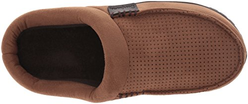 Chestnut Perforated Suede Men's Microfiber Dearfoams Slipper Clog 4OqY8SPv