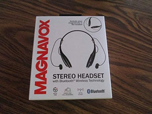 [해외]Magnavox Mbh513bk Black Stereo Headset With Bluetooth / Magnavox Mbh513bk Black Stereo Headset With Bluetooth